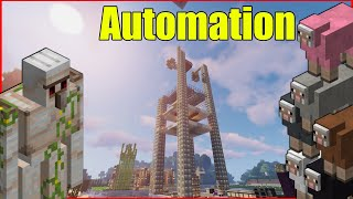 Auto wool farm build success | Minecraft Survival Live |