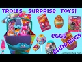 Dreamworks Trolls Surprise Toys Blind Bags Plastic Chocolate Eggs Fashion Tags Capsules Key Chain