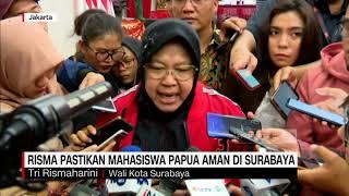 Risma Pastikan Mahasiswa Papua Aman di Surabaya