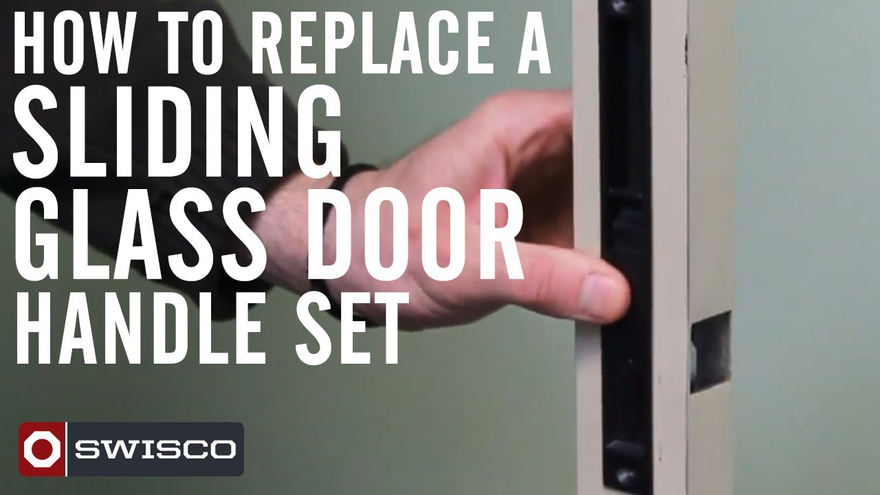 How to replace a sliding glass door handle set - YouTube