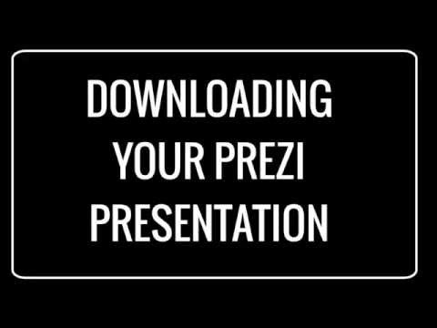 How To Download Your Prezi To Your Computer