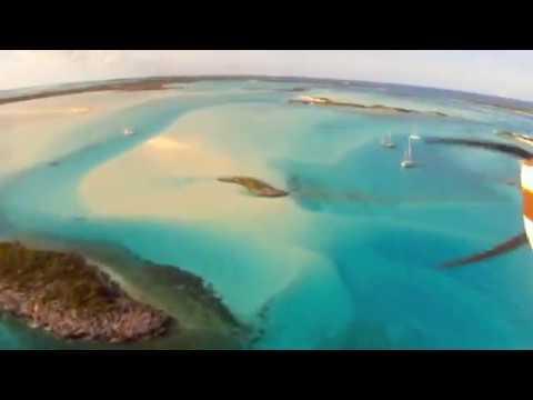 Flying Norman's Cay and Exuma Bahamas