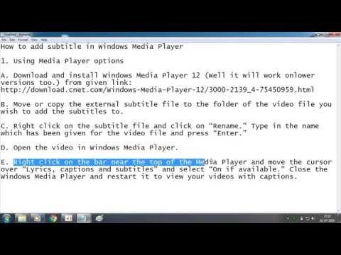 How To Add Subtitle In Windows Media Player Easily