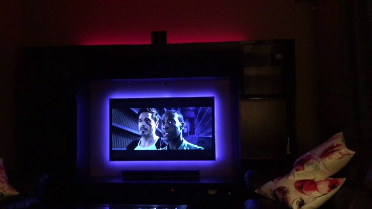 Philips hue light strips behind tv youtube aloadofball Choice Image