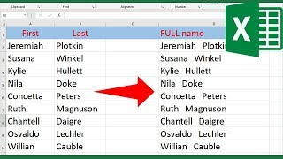 How to merge tẁo columns in Excel without losing data