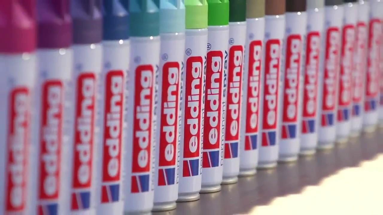 edding permanent spray tutorial - youtube