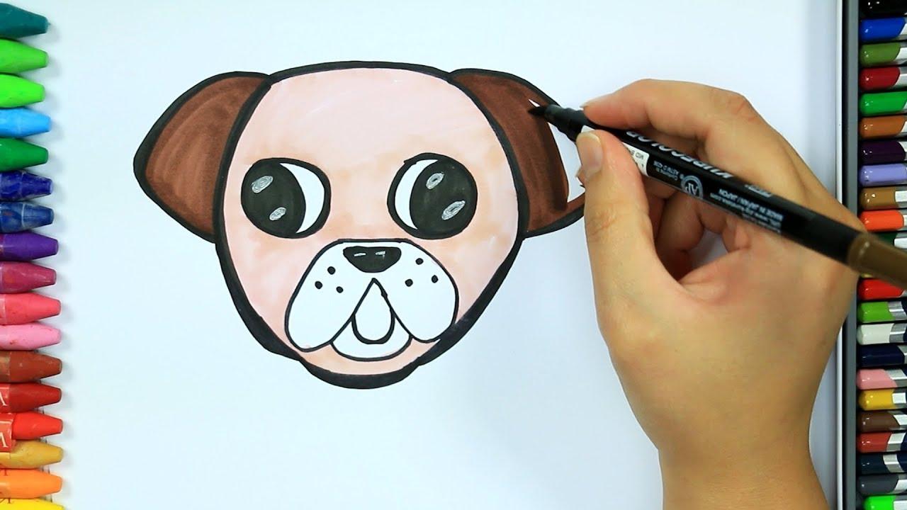 Dibujos Para Pintar Y Colorear Cómo Dibujar Perro Colores Para Niños Cómo Colorear