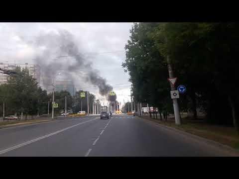 В Иванове сгорела машина на кольце автовокзала 3.9.17