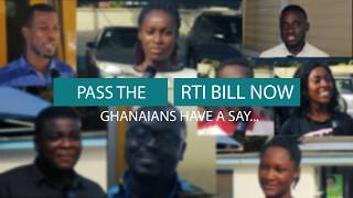 Ghanaians speak up on the RTI Bill