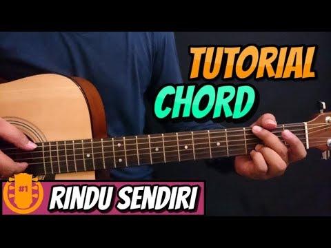 TUTORIAL CHORD GITAR :  OST. DILAN 1990 -  Rindu Sendiri  (Versi Aslinya)