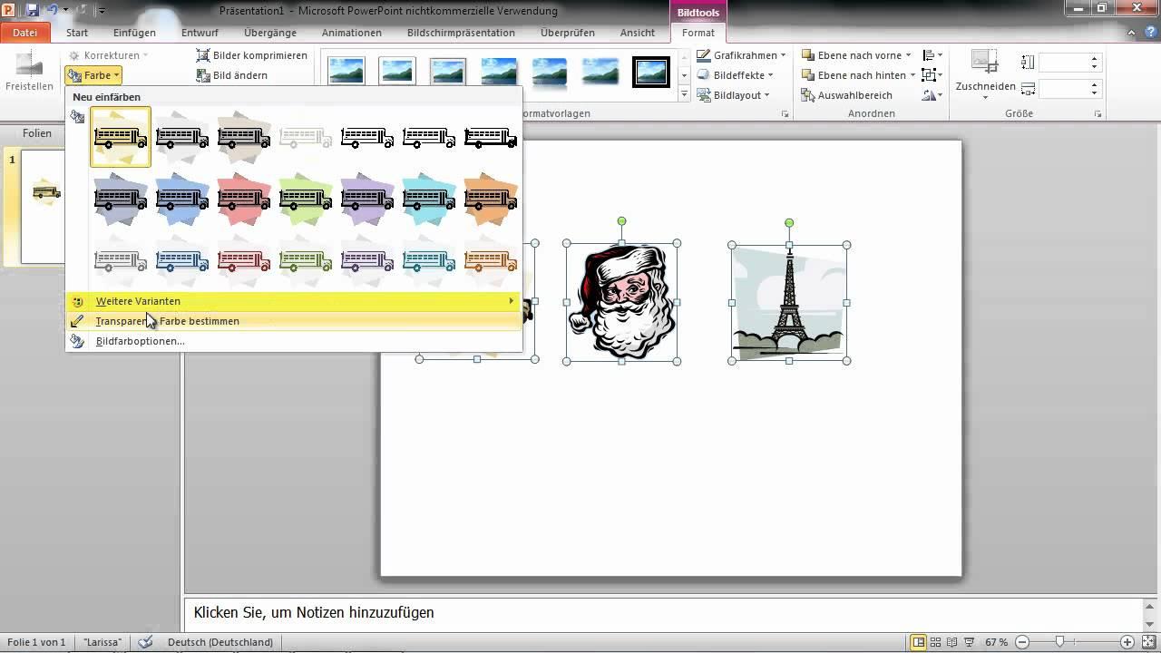 Powerpoint 2010 Clipart Grafiken Farblich Einheitlich Gestalten