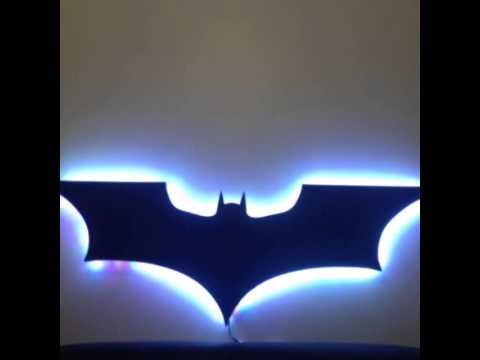 Led Batman Logo Youtube
