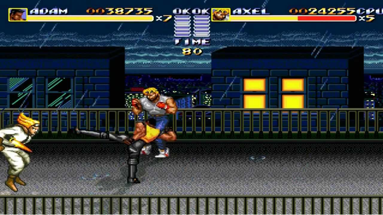 Streets of Rage Remake V5 - Route 2 - Level 1 - YouTube