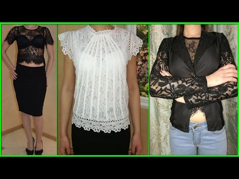Кружевной топ, блузка и пиджак мода 2017