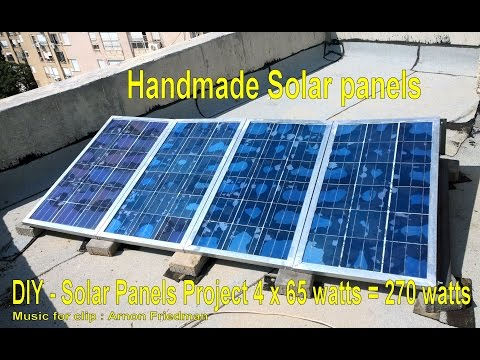 DIY 540 Watts - handmade Low cost Solar Panels complete off-grid \ gridtie set