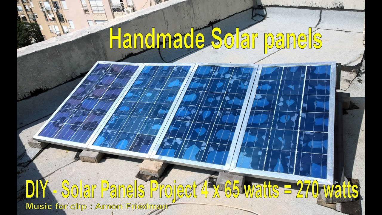 Diy 540 Watts Handmade Low Cost Solar Panels Complete Off Grid Gridtie Set