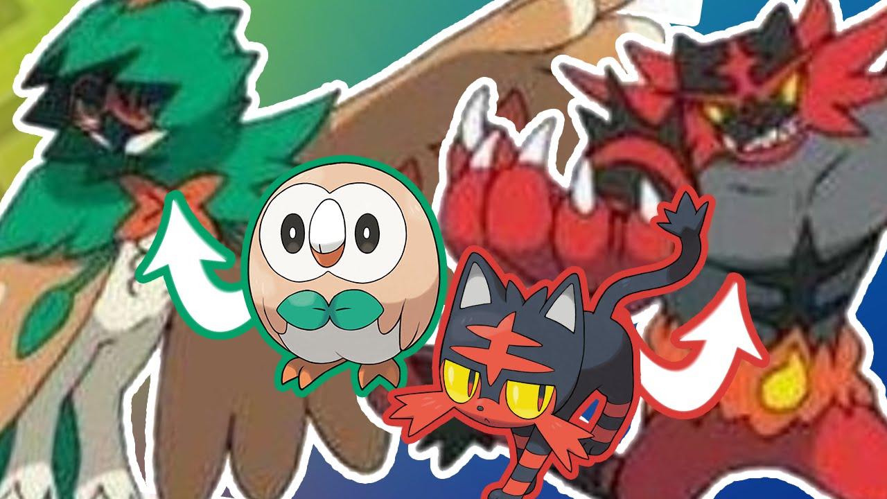 Les Evolutions Des Starters Pokémon Lune Et Soleil