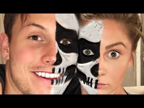 COUPLES HALLOWEEN SKULL MAKEUP!!! | Shawn + Andrew