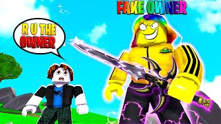 I Became the OWNER after I got this EPIC SWORD.. (Roblox)