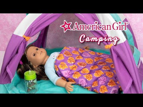 American Girl Doll Camping ~ Adventure Tent And Adventure Sleeping Bag