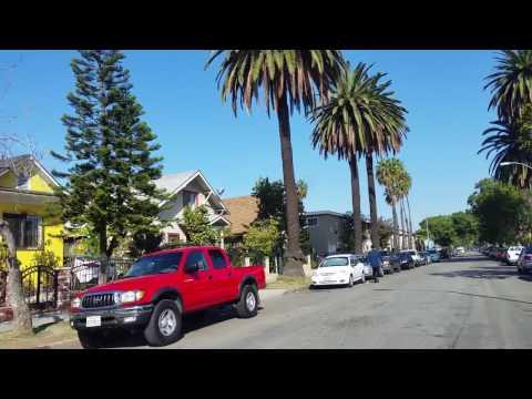 Driving in Long Beach, California  ( in the neighborhoods  )  Part 1