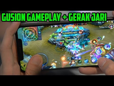 KECEPATAN JARI JESS GUSION TOP 1 GLOBAL + GAMEPLAY (Handcam) - Mobile Legends