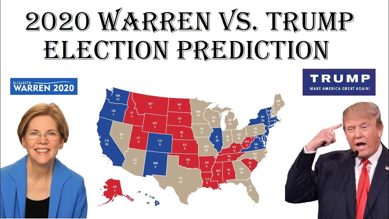 elizabeth warren  donald trump  electoral map prediction projecting  election