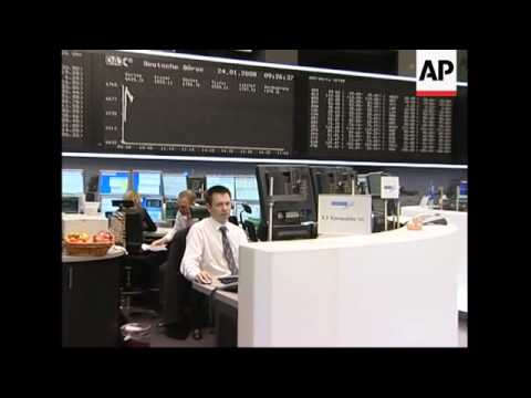 Trading floor of Frankfurt exchange as DAX index climbs