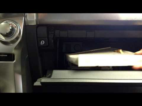 How to change a cabin filter on a 2014 Toyota 4runner