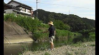小川で釣りしたら信じられない魚が釣れた