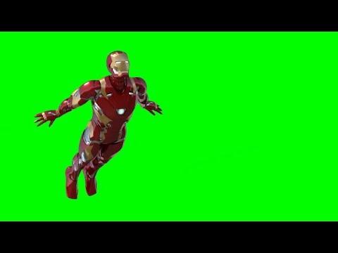 Green Screen Iron Man Flying 2 - YouTube