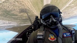 Amazing Cockpit Video of An F-22 Raptor Blasting Through The Skies