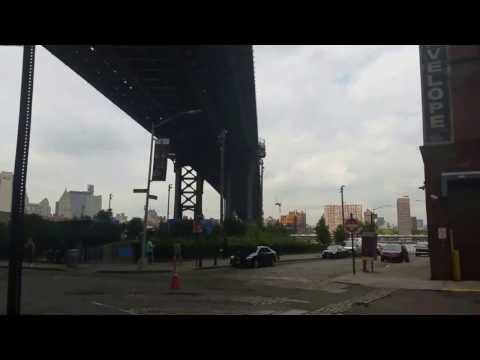 DUMBO in New York City, Manhattan Bridge, Brooklyn Bridge - Aug 2016