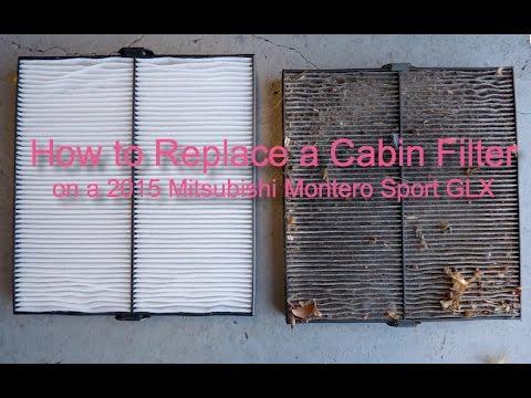 Mitsubishi Montero 2015 >> How to Replace Cabin Air Filter on a Montero Sport GLX 2015 - YouTube