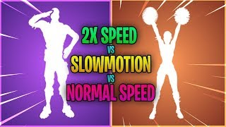*NEW* Fortnite Leaked Dances X2 SPEED vs NORMAL vs SLOWMOTION...!