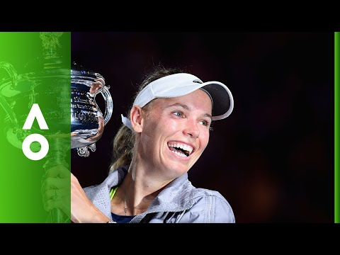 Caroline Wozniacki Women's Singles Championship ceremony | Australian Open 2018
