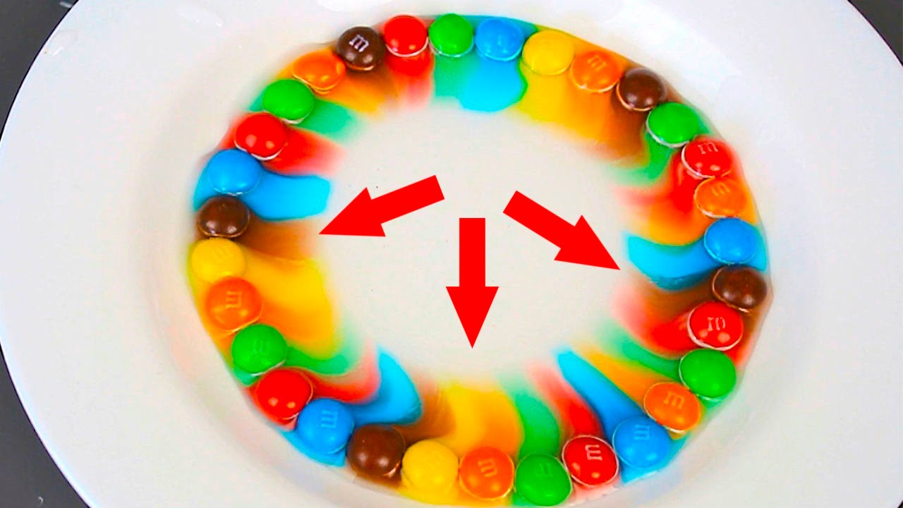 MMs Science Crazy Science Rainbow YouTube - Pouring hot water on skittles creates a magical rainbow