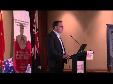 Jan Vydra's openning to the Australian China Business Week - Melbourne 2015