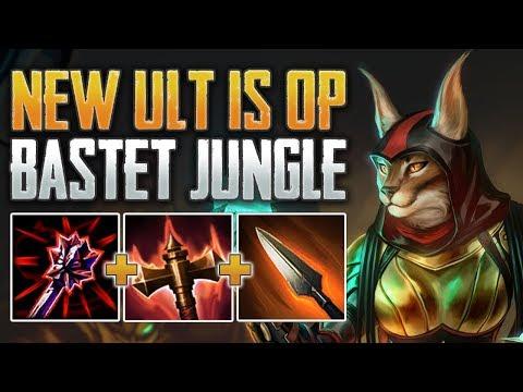 NEW BASTET REWORK ONE SHOTS! Bastet Jungle Gameplay (SMITE Season 7 PTS)