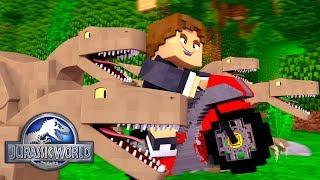 Minecraft: ANDANDO DE MOTO COM DINOSSAUROS ! - JURASSIC WORLD  ‹ LOKI ›