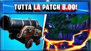 TOUTES LES NOTES DE PATCH 8.00 FORTNITE! Pirates! dingue! volcan! NOUVELLE CARTE!