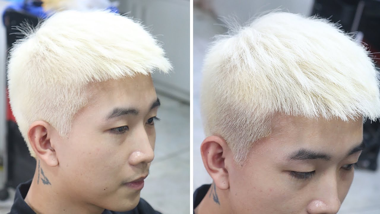 Hướng Dẫn Tẩy+Khử Trắng, Bạch Kim Đơn Giản Không Xót | Quang Saker | Tổng quát các kiến thức nói về cách pha thuốc nhuộm tóc màu bạch kim đầy đủ nhất