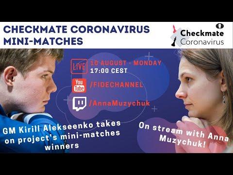 GM Kirill Alekseenko plays the lucky winners of Checkmate Coronavirus project