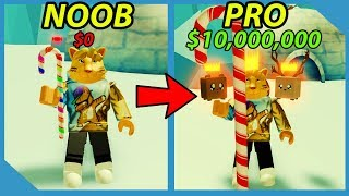 Noob to Pro! Best Pets! Unlock All Areas! - Roblox Grow a Candy Cane Simulator