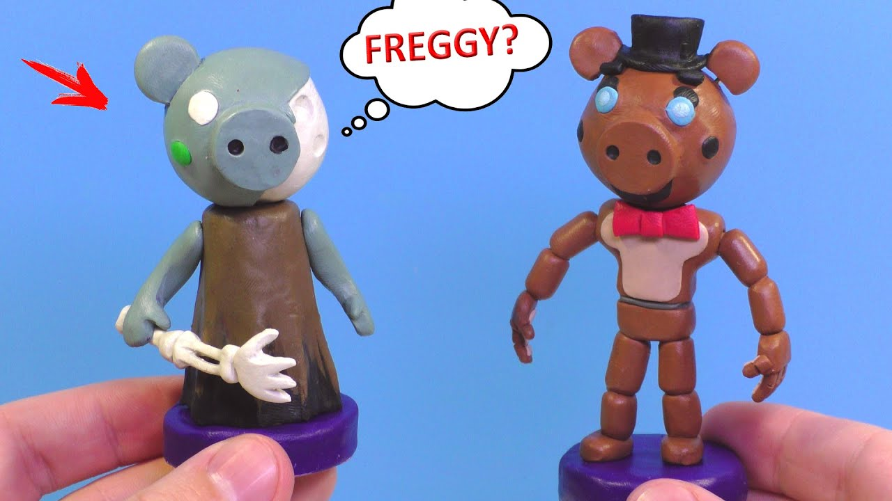 Making ZOMPIGGY and FREGGY with Clay | Piggy Roblox