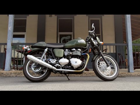 Triumph Thruxton Review at RevZilla.com - YouTube