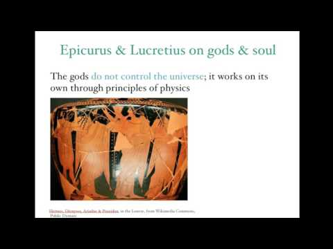 Epicurus and Lucretius on the gods and the soul