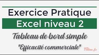 Exercice Excel 2 - Tableau de bord simple Efficacité commerciale
