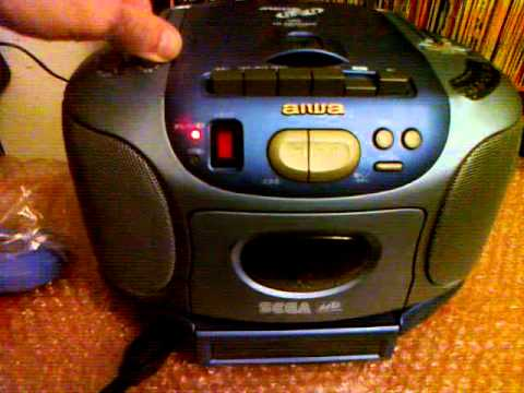 test cassette player of the sega aiwa csd gm1 megadrive. Black Bedroom Furniture Sets. Home Design Ideas
