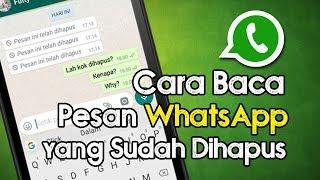 Cara Membaca Pesan di WhatsApp yang Terlanjur Dihapus Video